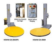 MID LEVEL LOW-PROFILE SEMI-AUTOMATIC STRETCH WRAP MACHINE